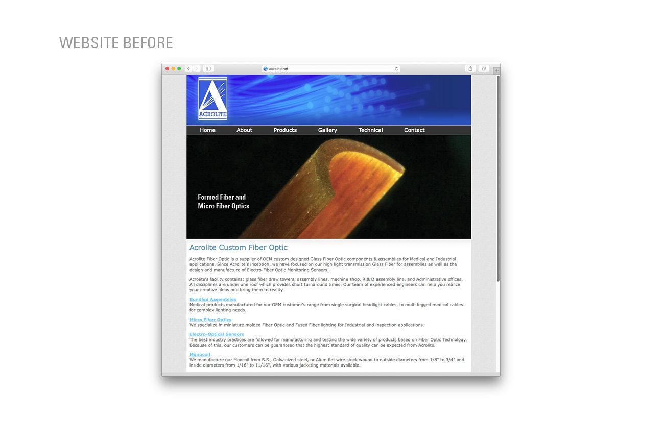Responsive Website Design For Custom Fiber Optic Manufacturer Cablethe Global Solution In Components Acrolite Manufacturing New York Stressdesign 02