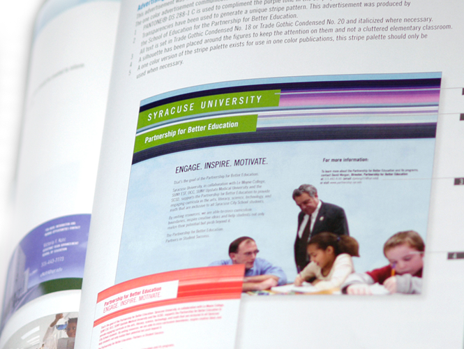 School of Education Brand Identity Print Advertising Layout