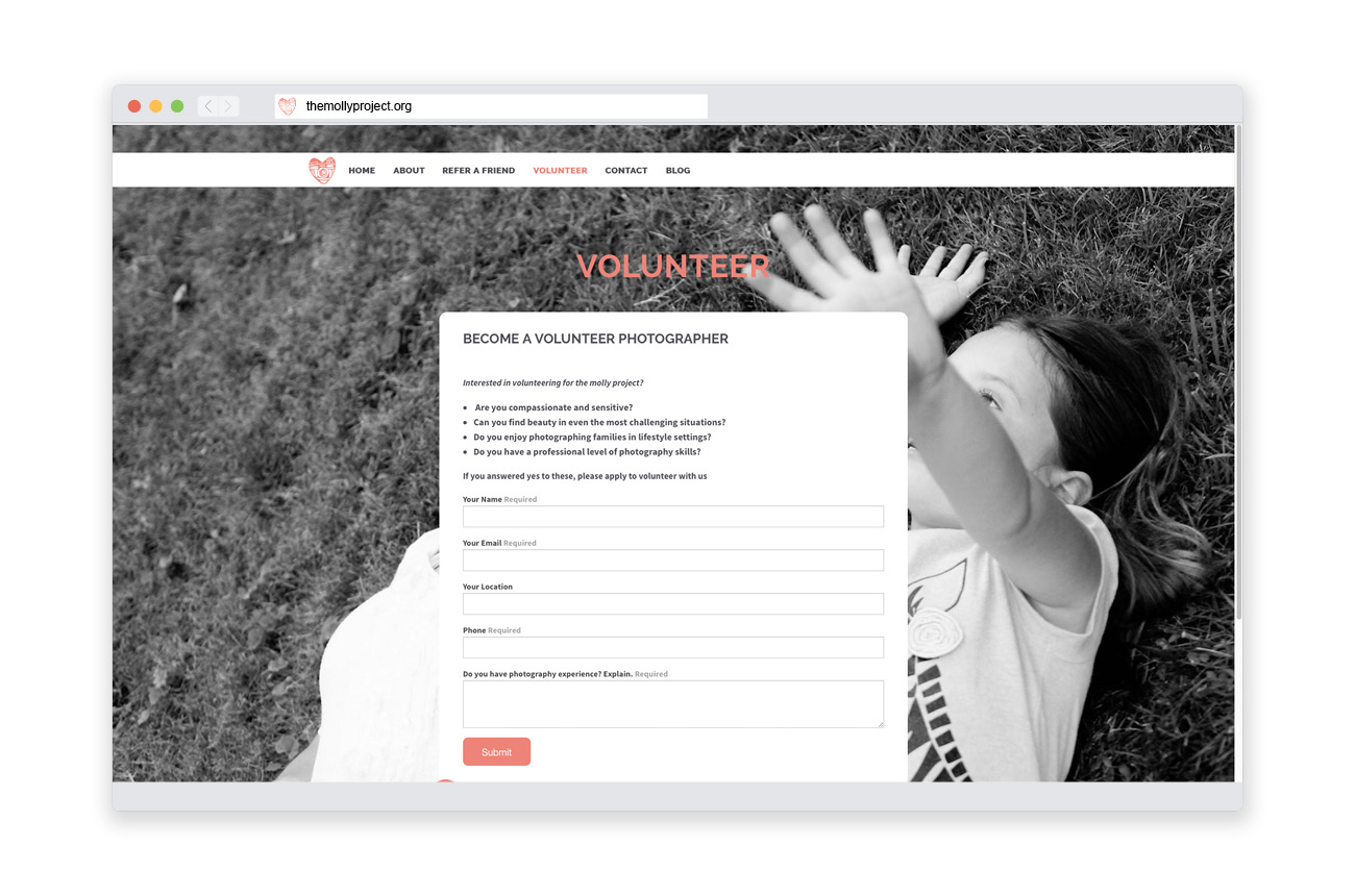 The Molly Project Brand Identity Program Stressdesign Website Brand Identity 020 Volunteer Page.jpg