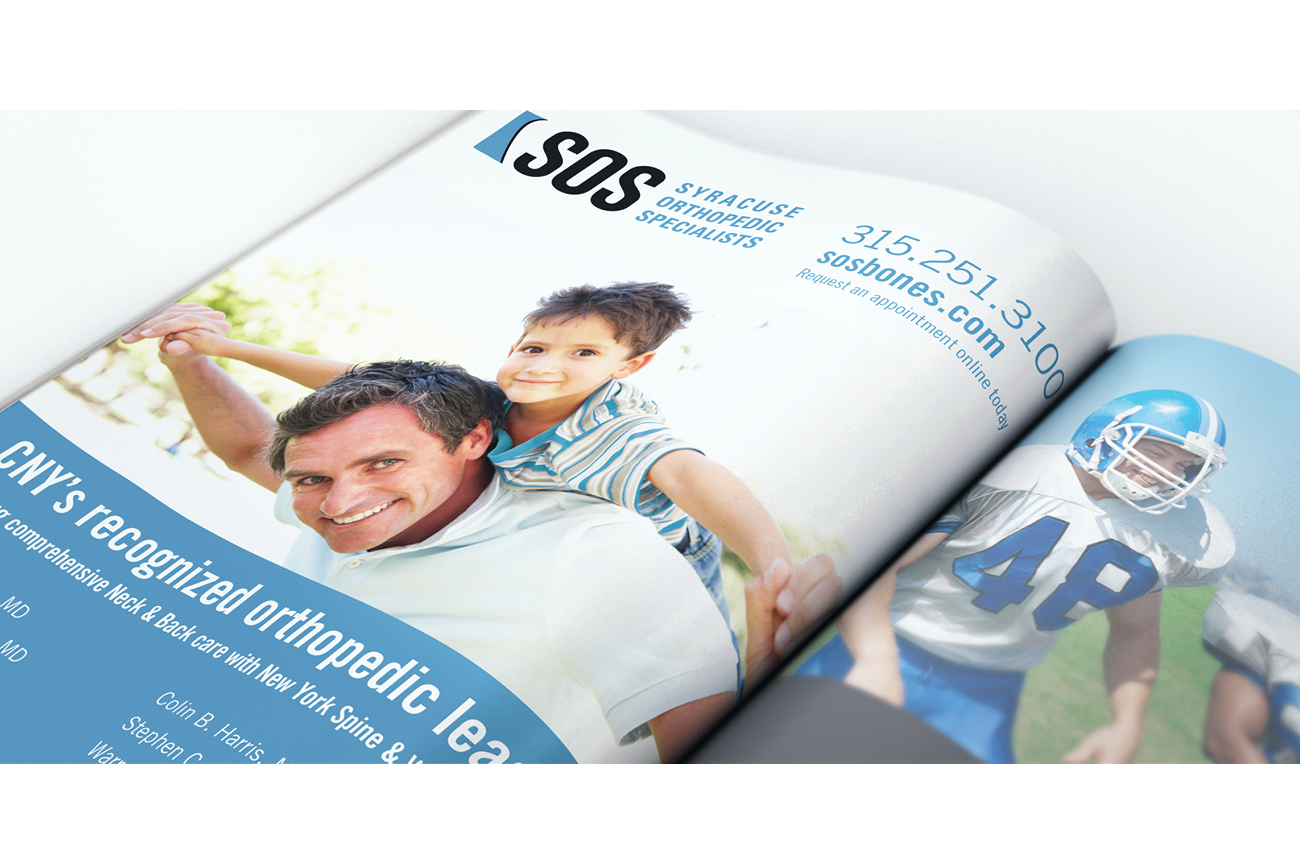 SOS Brand Identity Portfolio Syracuse Design Firm Stressdesign Magazine Advertising
