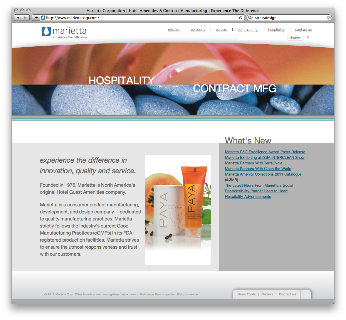 Marietta Corporation Website
