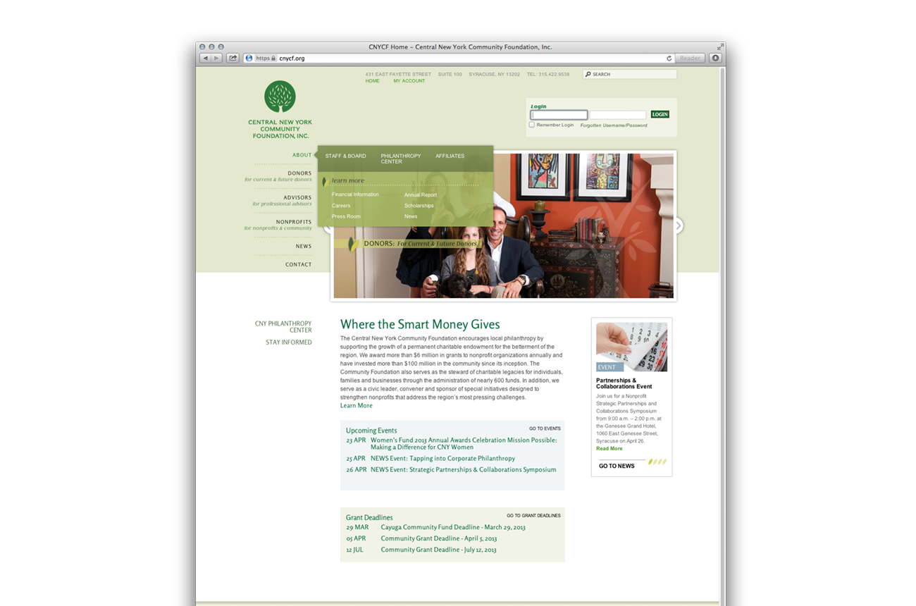 Central New York Community Foundation Website