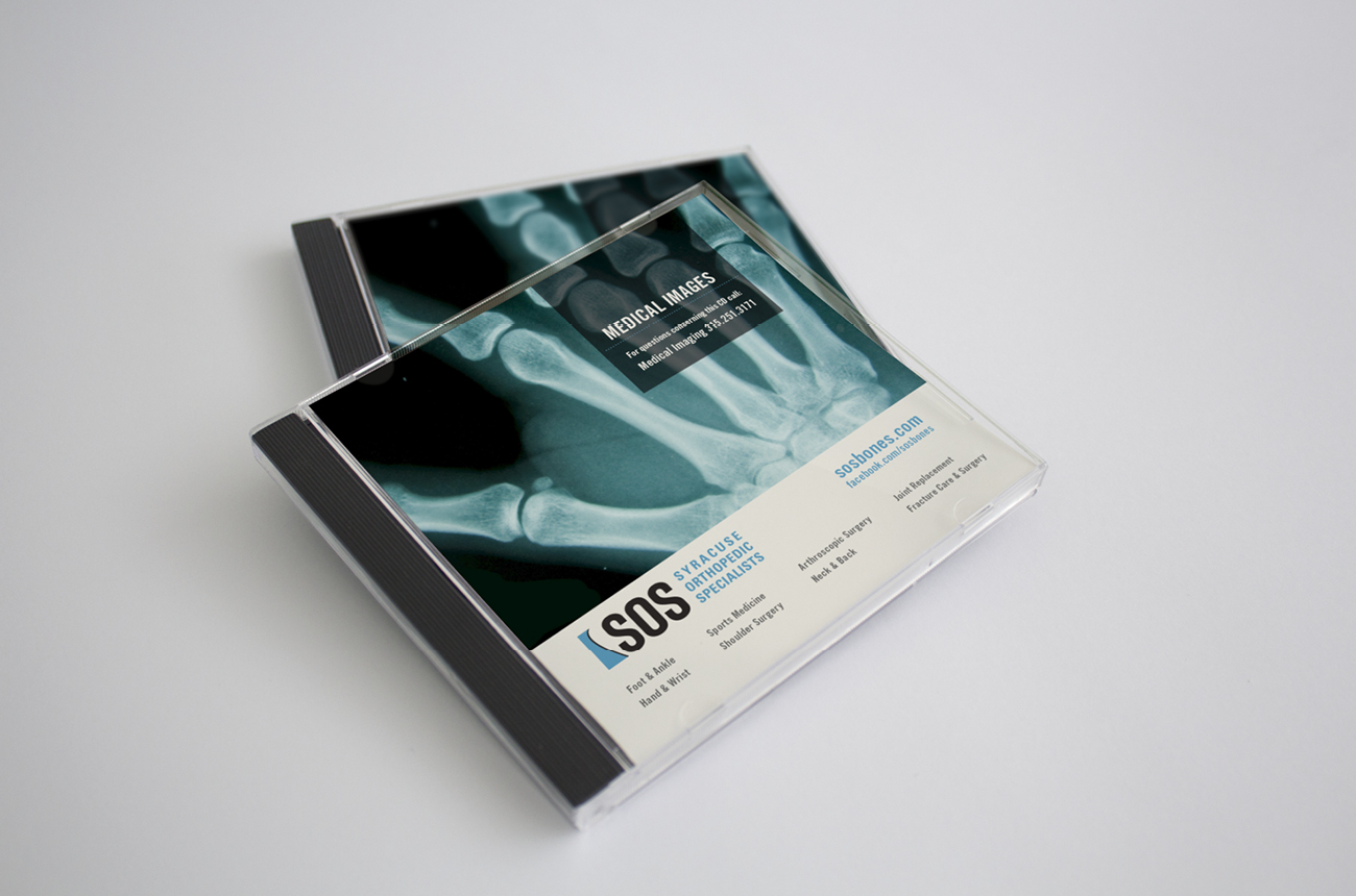SOS Brand Identity Portfolio Syracuse Design Firm Stressdesign Digital Imaging Patient Package