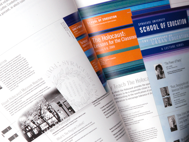 School of Education Brand Identity Direct Mail Layout