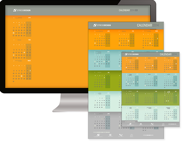 Stressdesign 2014-2015 calendars now available for download