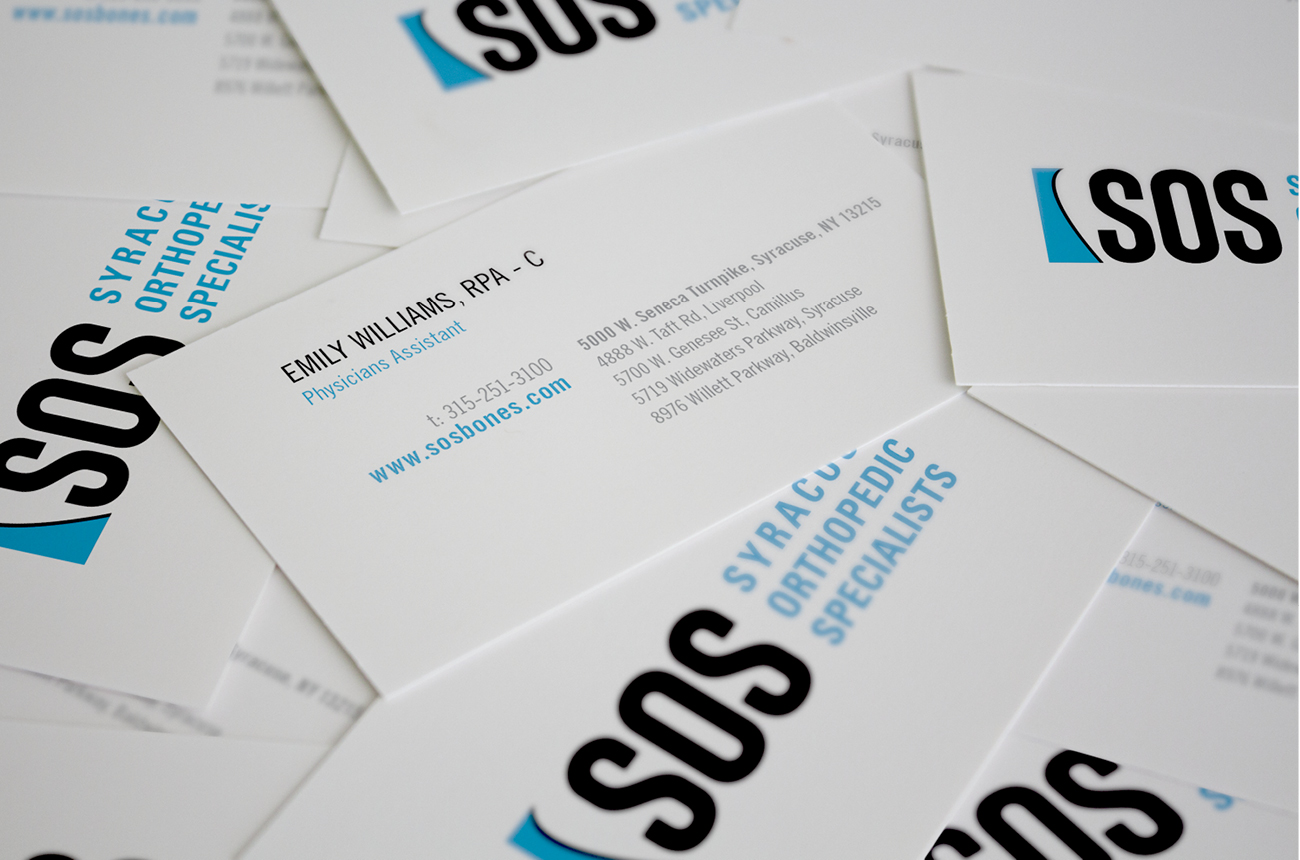 SOS Brand Identity Portfolio Syracuse Design Firm Stressdesign Business Card